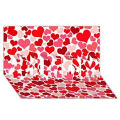Heart 2014 0937 #1 MOM 3D Greeting Cards (8x4)