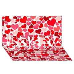 Heart 2014 0937 SORRY 3D Greeting Card (8x4)