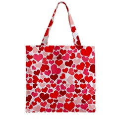 Heart 2014 0937 Zipper Grocery Tote Bags