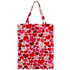 Heart 2014 0937 Zipper Classic Tote Bags