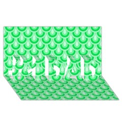 Awesome Retro Pattern Green #1 DAD 3D Greeting Card (8x4)