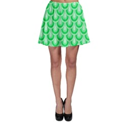 Awesome Retro Pattern Green Skater Skirts
