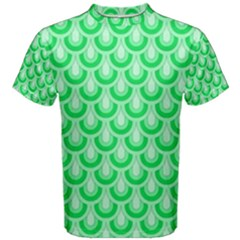 Awesome Retro Pattern Green Men s Cotton Tees