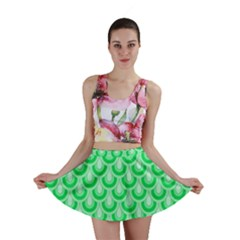 Awesome Retro Pattern Green Mini Skirts