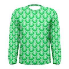 Awesome Retro Pattern Green Men s Long Sleeve T-shirts