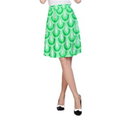 Awesome Retro Pattern Green A Line Skirts