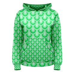 Awesome Retro Pattern Green Women s Pullover Hoodies