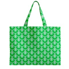 Awesome Retro Pattern Green Zipper Tiny Tote Bags