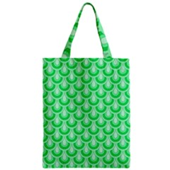 Awesome Retro Pattern Green Zipper Classic Tote Bags