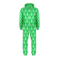 Awesome Retro Pattern Green Hooded Jumpsuit (Kids)