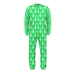 Awesome Retro Pattern Green OnePiece Jumpsuit (Kids)