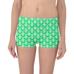 Awesome Retro Pattern Green Reversible Boyleg Bikini Bottoms