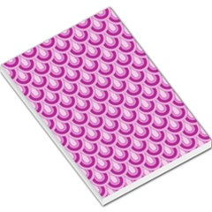 Awesome Retro Pattern Lilac Large Memo Pads