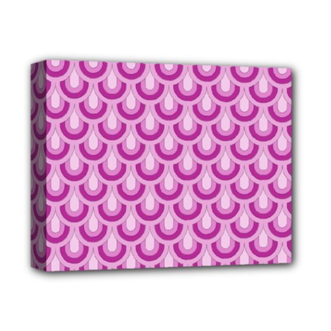 Awesome Retro Pattern Lilac Deluxe Canvas 14  X 11