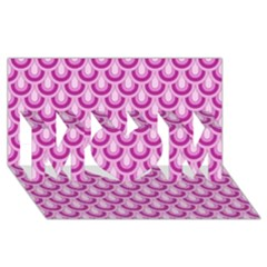 Awesome Retro Pattern Lilac MOM 3D Greeting Card (8x4)