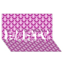 Awesome Retro Pattern Lilac PARTY 3D Greeting Card (8x4)