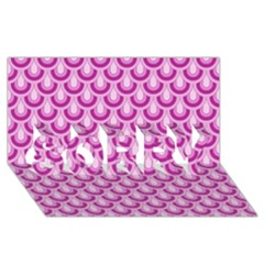 Awesome Retro Pattern Lilac Sorry 3d Greeting Card (8x4)