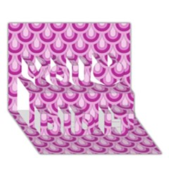 Awesome Retro Pattern Lilac You Did It 3d Greeting Card (7x5)