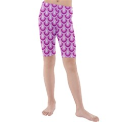 Awesome Retro Pattern Lilac Kid s swimwear