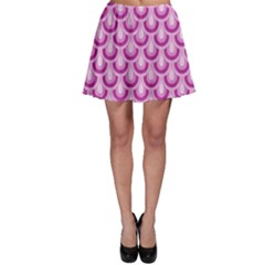 Awesome Retro Pattern Lilac Skater Skirts