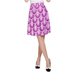 Awesome Retro Pattern Lilac A-Line Skirts