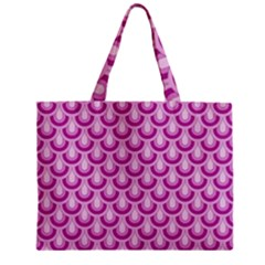 Awesome Retro Pattern Lilac Zipper Tiny Tote Bags
