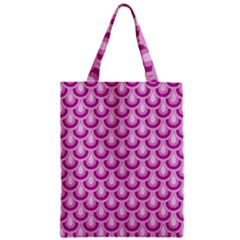 Awesome Retro Pattern Lilac Zipper Classic Tote Bags