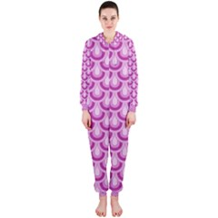 Awesome Retro Pattern Lilac Hooded Jumpsuit (Ladies)