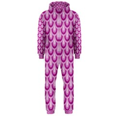 Awesome Retro Pattern Lilac Hooded Jumpsuit (men)