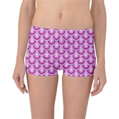 Awesome Retro Pattern Lilac Reversible Boyleg Bikini Bottoms