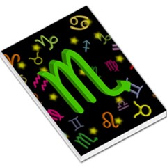 Scorpio Floating Zodiac Sign Large Memo Pads