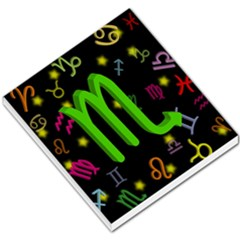 Scorpio Floating Zodiac Sign Small Memo Pads