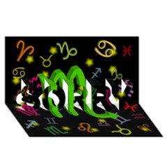 Scorpio Floating Zodiac Sign Sorry 3d Greeting Card (8x4)