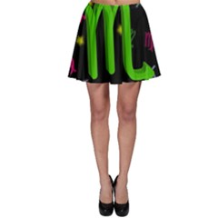 Scorpio Floating Zodiac Sign Skater Skirts