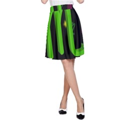 Scorpio Floating Zodiac Sign A-Line Skirts