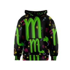 Scorpio Floating Zodiac Sign Kid s Pullover Hoodies