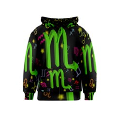 Scorpio Floating Zodiac Sign Kids Zipper Hoodies