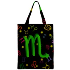 Scorpio Floating Zodiac Sign Zipper Classic Tote Bags