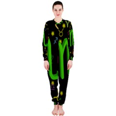 Scorpio Floating Zodiac Sign OnePiece Jumpsuit (Ladies)