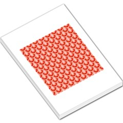 Awesome Retro Pattern Red Large Memo Pads