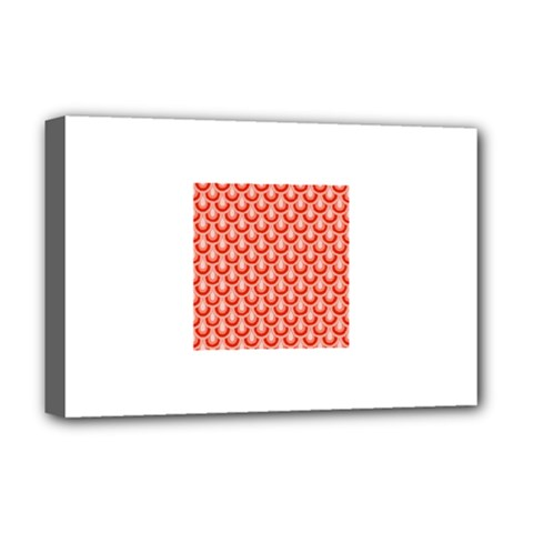 Awesome Retro Pattern Red Deluxe Canvas 18  X 12