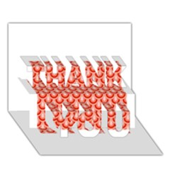 Awesome Retro Pattern Red THANK YOU 3D Greeting Card (7x5)