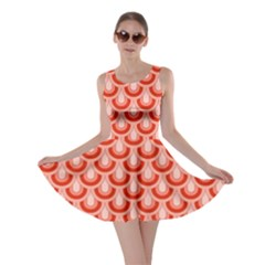 Awesome Retro Pattern Red Skater Dresses