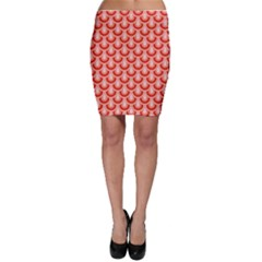 Awesome Retro Pattern Red Bodycon Skirts