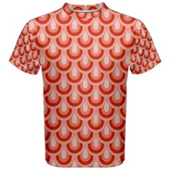 Awesome Retro Pattern Red Men s Cotton Tees
