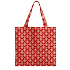 Awesome Retro Pattern Red Grocery Tote Bags
