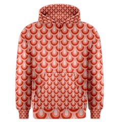 Awesome Retro Pattern Red Men s Zipper Hoodies