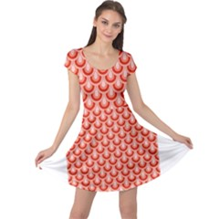 Awesome Retro Pattern Red Cap Sleeve Dresses