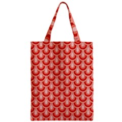 Awesome Retro Pattern Red Zipper Classic Tote Bags