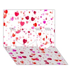 Heart 2014 0601 I Love You 3d Greeting Card (7x5)